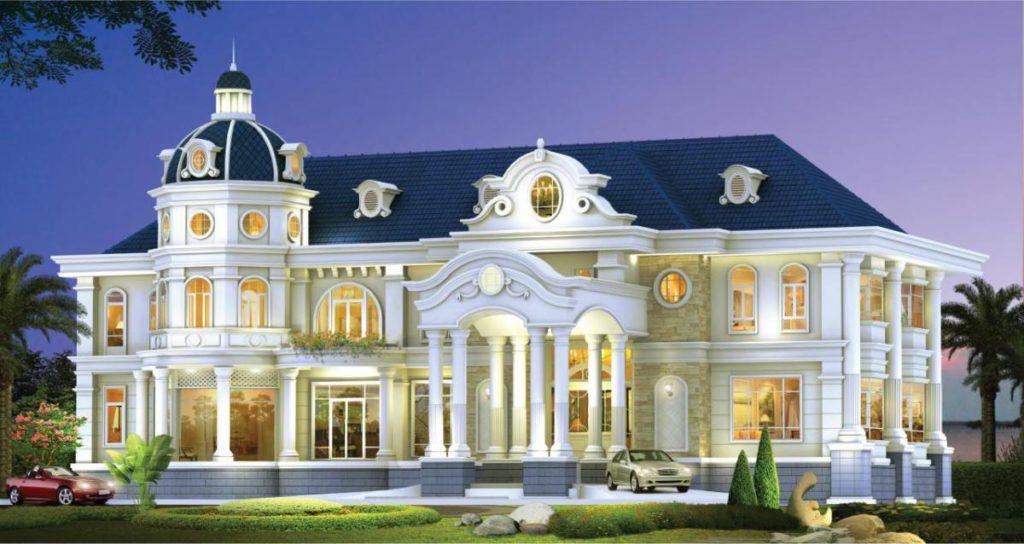 สไตล์บ้านยอดนิยม บ้านสไตล์คลาสสิค กับบ้านหลังใหญ่